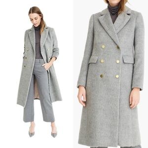 NWT J.Crew Collection Ling Brushed Wool Top Coat